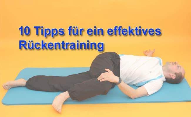 10 Tipps für ein effektives Rückentraining