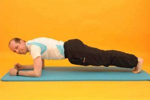 Kreuzschmerzen Plank