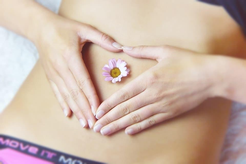 Rückenschmerzen durch Darm - Blume auf Darm