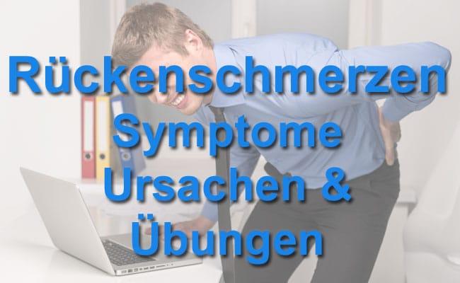Rückenschmerzen - Symptome, Ursachen & Übungen