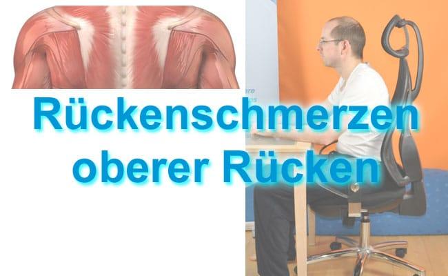Rückenschmerzen oberer Rücken - konkrete Übungen