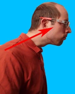 Richitg Sitzen - schiefer Hals