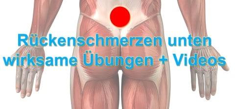 Rückenschmerzen unten - 7 garantiert wirksame Übungen [mit Videos]